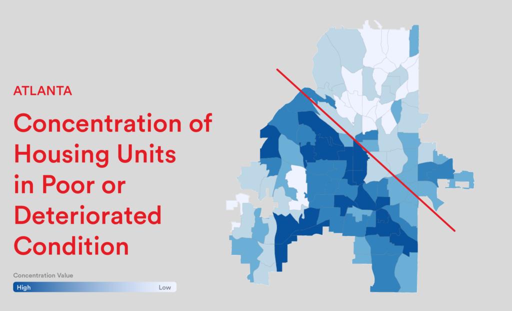 Housing Map of Atlanta provided by Neighborhood Nexus.