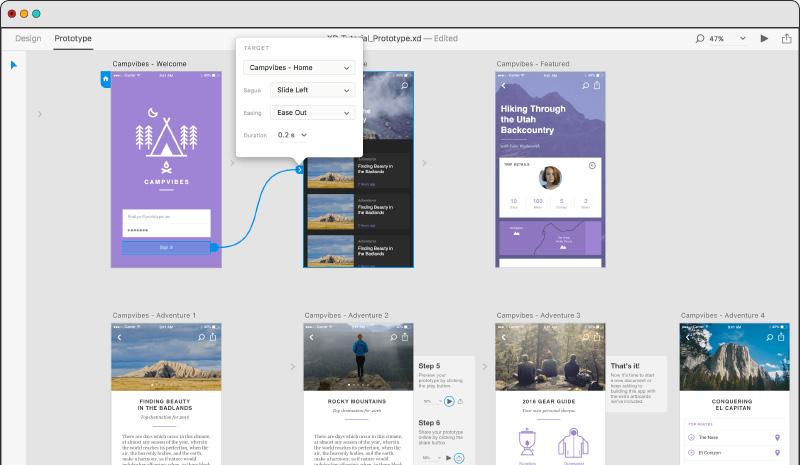 Best Prototyping Tools Adobe XD